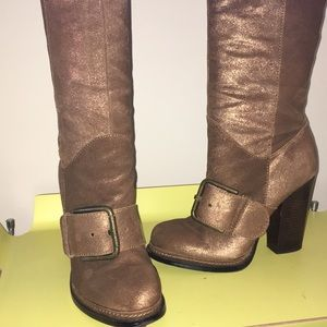 "Nine West ""Throw Down"" Tall Bronze Boot 8M"